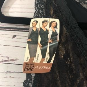 Flexees Intimates & Sleepwear - Flexees Chic Shape wear black lace sheer with